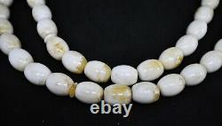 115.38g Large baltic amber ISLAMIC 33 PRAYER OLIVE 17/20mm BEADS BIG ROSARY