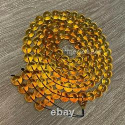 232Grams 15mm 100% Natural Mexican Chiapas Amber Round Bead 108 Prayer Necklace