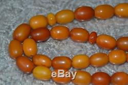 42 Gr Top QualityAntique Amber Prayer Beads Necklace