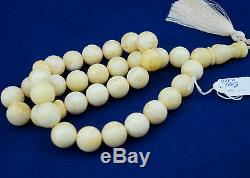 AMBER Prayer BEADS ROSARY AMBRE TASBIH MISBAHA QUALITY GS-411
