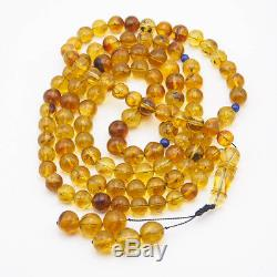 Amber Mala Prayer Beads with Insects in all Beads