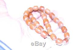 Antique African Amber Beads 50 Gram Necklace Rare