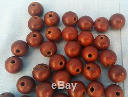 Antique Amber Bakelite Catalin Celluloid Prayer Worry Beads 35
