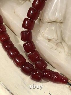 Antique Cherry Amber Bakelite Faturan Islamic Prayer Beads