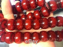 Antique Ottomon Cherry Amber Faturan Bakelite Prayer Beads