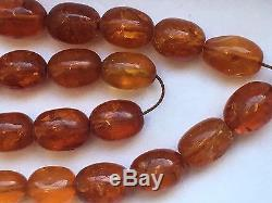 Antique old baltic amber prayer beads necklace