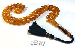Authentic Vintage Islamic Baltic Amber Prayer Beads No Reserve