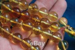 BALTIC AMBER WITH FOSSIL INSECTS IN EACH PRAYER BEADS 37 grams