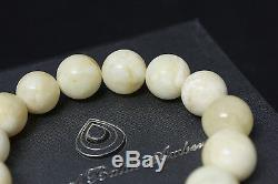 Baltic Amber Bracelet Pure Amber without additionals Round Beads 17,2g 13mm
