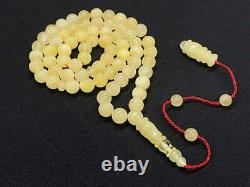 Baltic Amber Rosary 18.7 Gr Islamic 66 Prayer Beads 100% NATURAL