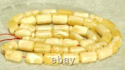 Baltic White Landscape Color Class Natural Amber Necklace Rosary Islam Prayer