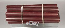 Beautiful rare Lot old french galalith amber marbled 12 rods 1140grams
