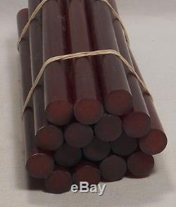 Beautiful rare lot of galalith amber marbled 16 rods 950grams