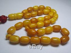 Butterscotch Baltic Amber prayer beads old and unique