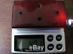 Faturan cherry amber bakelite clock 47 gr veined Rare colour