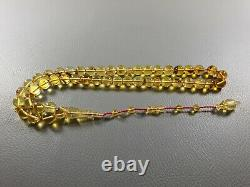 Insect fossil Baltic Amber round prayer beads 45 beads 10mm 34gr Misbaha F15