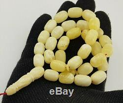 Islamic Prayer Tasbih Stone Amber Natural Baltic Vintage Bead 47,1g Old R-024