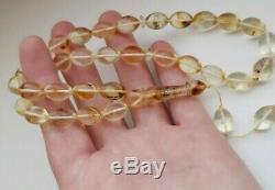 Natural Baltic Amber 21g Islamic Prayer Rosary Olive Beads with inclusions