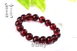 Natural Poland Blood amber prayer beads bracelet with certificate11mm 5A