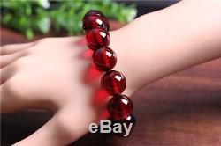 Natural Poland Blood amber prayer beads bracelet with certificate12mm 5A