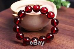 Natural Poland Blood amber prayer beads bracelet with certificate13mm 5A