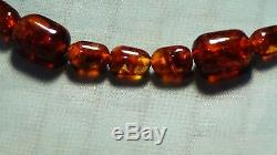 Old Antique Jenuine Baltic Amber Necklace Mala Worry Prayer Beads Islamic 95gr