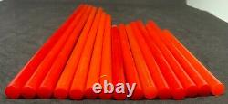 Old Amber Bakelite Rare 15 Rods Red Prayer Beads Simichrome tested 8.1 mm 217 g
