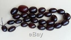 Old Faturan Catalin cherry amber bakelite islamic prayer beads 99 g