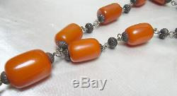 Old Genuine Solid Amber Table Worry Beads/Prayer Beads/Komboloi Rosary 15 Beads