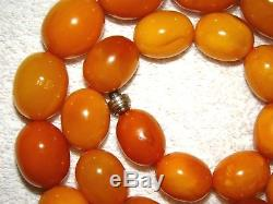 Old, Real, Antique, Huge, Natural Amber Necklace / Rosary / Prayer Beads / 152 G