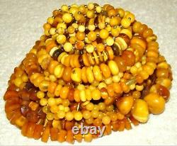 Old, Real, Natural Amber Necklace / Rosary / Prayer Beads / 1 Kilo / Whole Sale