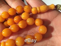 Real natural top quality rare old amber beads