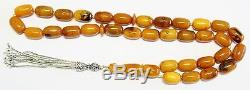 TESBIH PRAYER BEADS KOMBOLOI CHAPELET ANTIQUE KAHRAMAN GENUINE AMBER UNIQUE XXXR