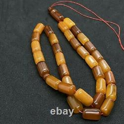 Very OLD Egg yolk EXCELLENT ANTIQUE 48.3Gr Amber Rosary Islamic Prayer Beads33