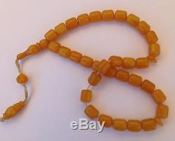 Vintage Bakelite butterscotch Amber beads awesome 59.5grams